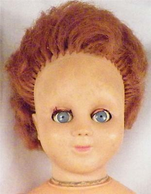 Vintage Made in France Doll Vinyl Head Plastic Body Gb or 6B 16 inches As Is
