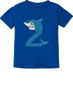 2nd Birthday Shark Party Gift For 2 Year Old Toddler Kids T Shirt Loving