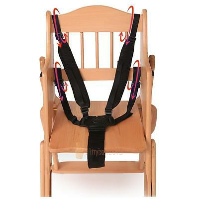 5 Point Baby Kids Harness Seat Belt Strap Portable For Stroller High Chair Prams