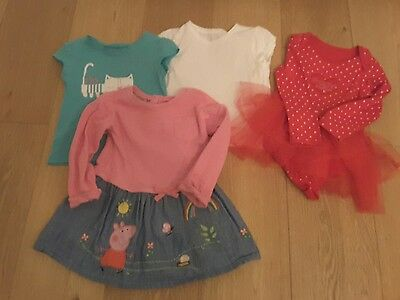 Baby girl t-shirt and dress bundle size 18-24 months