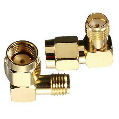 RP-SMA Male To SMA Female Jack Right Angle Crimp RF Adapter Connector