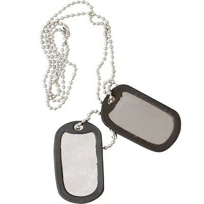 Military Dog Tags Army Id Tag Necklace Mens Boys Soldier Fancy Dress Silencers