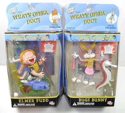 LOONEY TUNES What's Opera Doc - Bugs Bunny & Elmer Fudd Actionfigur DC DIRECT *L