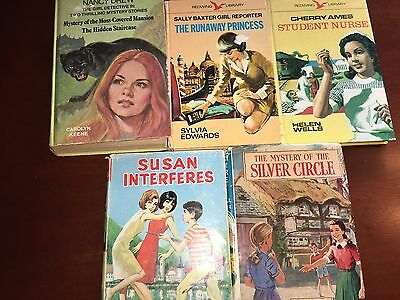 5 Vintage Girls Books from the 1960's and 1970's.