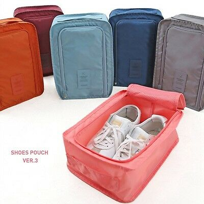Portable Outdoor Waterproof Shoe Bag Pouch Shoes Storage Zip Bag Box For Travel