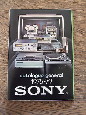 Sony Catalogue General 1978/1979
