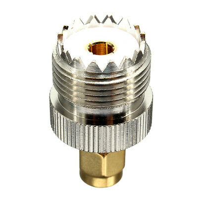 UHF Female SO239 Jack to SMA Male Plug Straight Adapter Connector