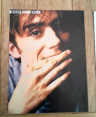 BLUR 'Damon hand on chin' magazine PHOTO/Poster/clipping 11x8 inches