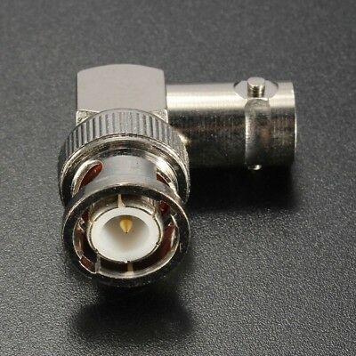 90 Degree BNC Male Plug Adapter Gold-plated Pin to BNC Female Jack RF Connector