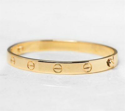 Cartier 18K Yellow Gold Love Bangle - Com1033