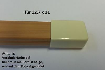 Connector End Piece for Cable Channel 12, 7x11mm/Please Colour Select