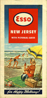 1948 New Jersey Road Map from Esso