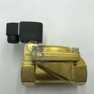 """DC 12V G2"""" Brass Electric Solenoid Valve for Water waterproof Normally Closed"""