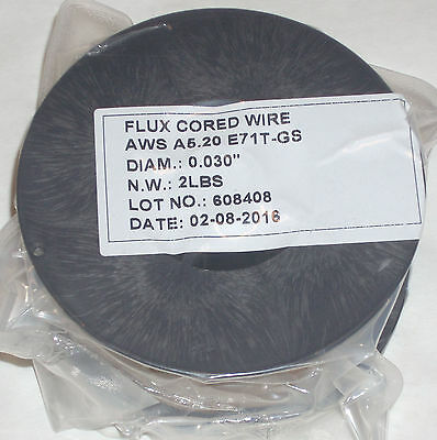 4lbs Flux Core E71T-GS Gasless Welding Wire .030 Diameter (2) 2 lb Rolls
