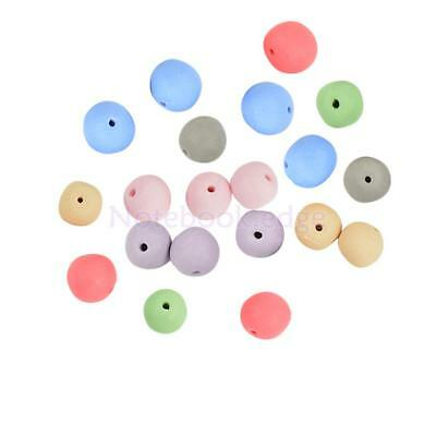 20Pcs Mixed Colors 10mm Round Clay Ceramic Loose Beads Jewelry Making Crafts