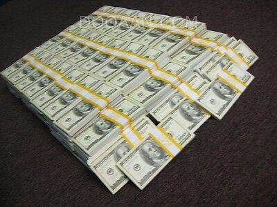 500,000.00 US Dollars Half Million 50x Bundles $10,000 Old 2003 Style Prop Money