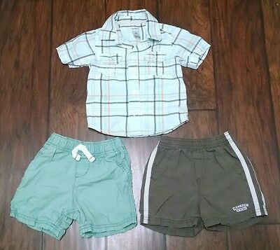 Carter's Toddler Boy 18-24 Months Lot of Summer Clothes Khaki Shorts Outfit
