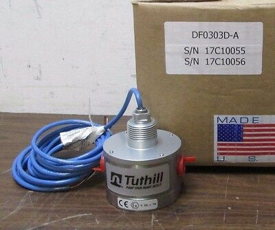 TUTHILL MAGDRIVE PROCESS PUMP FLOW METER STAINLESS TM03 x TM03 NPT 15-180 GPH