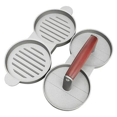SY Red handle double grid Hamburger meat pie Mold press