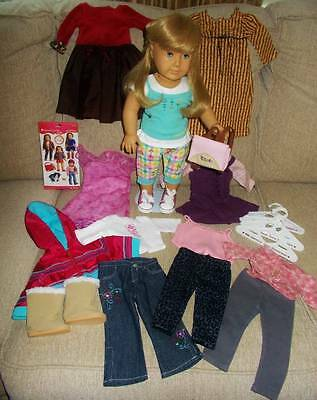 American Girl Doll & Clothing Lot, Most Clothes are American Girl, Used