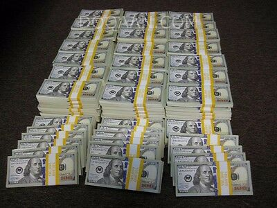 10,000.00 US Dollars 1x Bundle of $10,000 New Style with Blue Strip PROP MONEY
