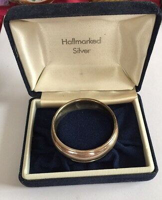 Boxed Hallmarked Solid Silver Napkin Ring 1995 By B&Co Birmingham