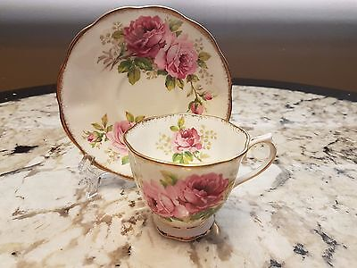 "Vintage Royal Albert ""american Beauty"" Footed Cup Saucer"