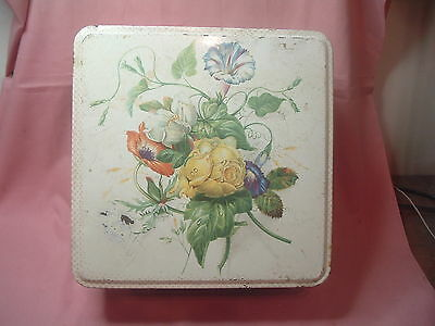 Vintage  Huntley & Palmers Biscuit Tin  Floral Design