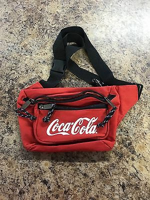 *~Coca Cola*~Fanny Pack*~Red*~2 Pockets*~Zippers*~