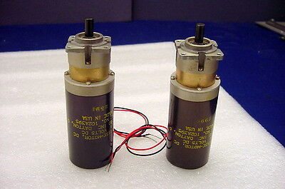 Tw0 Made For U.s. Military 24Vdc New Gearcase Motors From Globe Industries