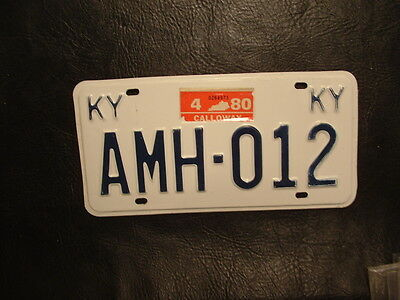 1980 Kentucky License Plate Calloway County