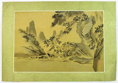 Vintage Chinese Painting of a Landscape 4 of 4 50.5cm by 35cm