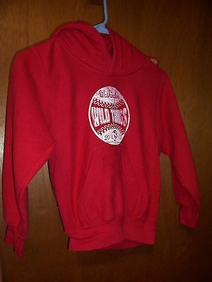 Pro-Weave red hoodie w/white washington wild things graphic size small