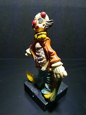 """Vintage Depose Italy clown, hand painted 5 3/4"""" tall."""
