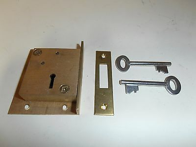 Solid Brass Quality Cupboard / drawer lock and key