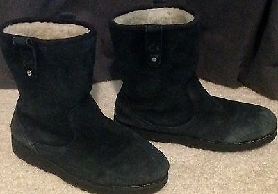 Ugg Australia Black Suede Boots Girl's Size 3