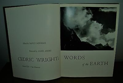 """Vintage """"words Of The Earth"""" 1960 Cedric Wright Nature Photography Book Sierra"""
