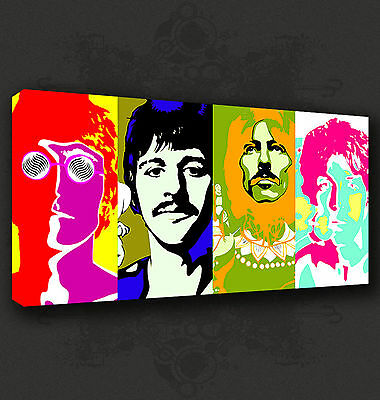 THE KASABIAN MUSIC BAND POP ART WALL ART CANVAS PRINT PICTURE READY TO HANG
