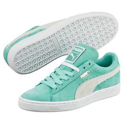 low priced c318c b0e85 Puma Mint Green Cream Suede Retro Classic Embossed Foil Sneakers Shoes WMS  NEW