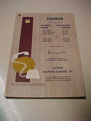 1970 Ligonier Indiana Ind. Telephone Directory Phone Book Advertisements also