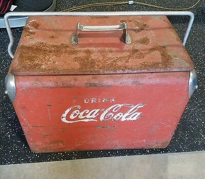 Vintage 1950s Coca Cola Ice Chest Cooler Box Original Condition AWESOME!