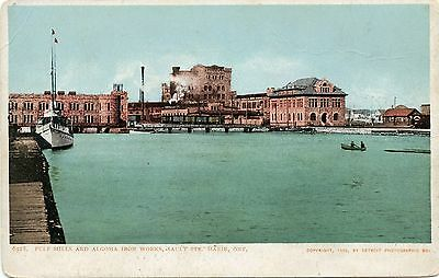Sault Ste Marie  Ontario Canada Pulp Mills And Angoma Iron Works 1902