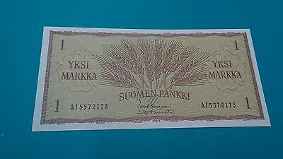 1963 FINLAND 1 One Marka Banknote .p98  .choice unc