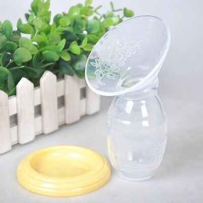 Silicone Manual Mom Breastfeeding Breast Pump Baby Feeding Milk Saver Bottle UK