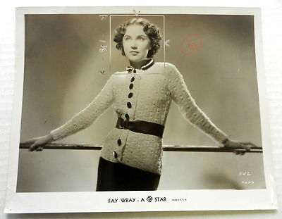 FAY WRAY Studio EARLY Candid Publicity Still 8x10 PHOTO King KONG Actress ak401