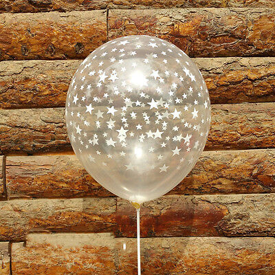 10pcs Clear Stars Pearl Latex Balloon Helium Transparent Balloon For Party Decor