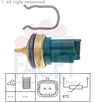 PEUGEOT RCZ 1.6 Coolant Temperature Sensor 2010 on Sender Transmitter 1338F3 New