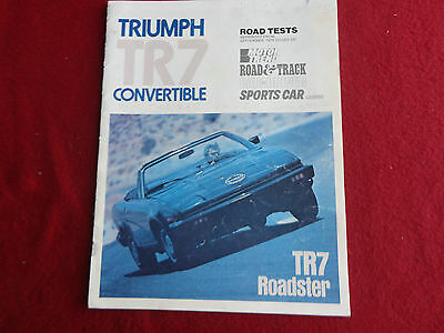 Triumph TR7 convertible road tests 1979 Roadster