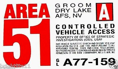 AREA 51 VINYL STICKER!! Fully Weatherproof!! Tested outdoor weather over a year.