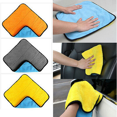 Car Auto Care Thick Plush Microfiber Car Cleaning Cloths Soft Cloths Wash Towel^